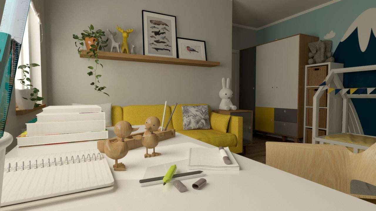 wąski pokój dla dziecka | Duszyńska Design