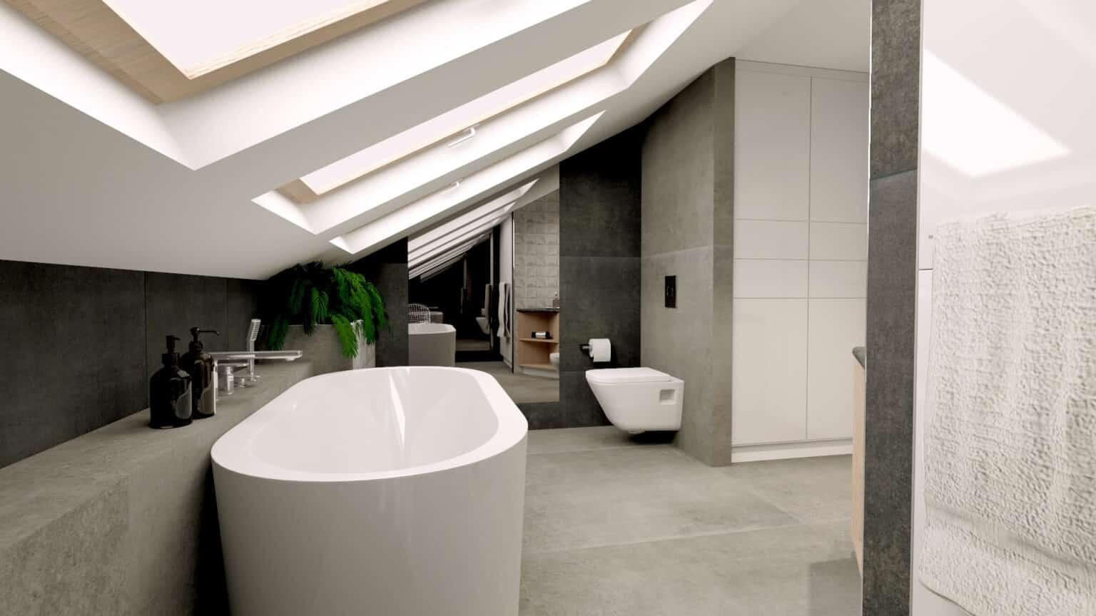 łazienka poddasze | Duszyńska Design