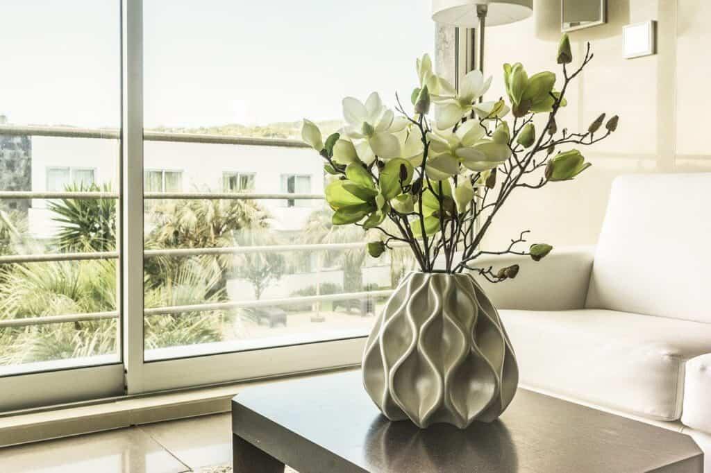 window, vase, inside the house