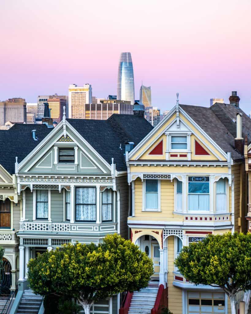 kolorowe domy w stylu amerykańskim