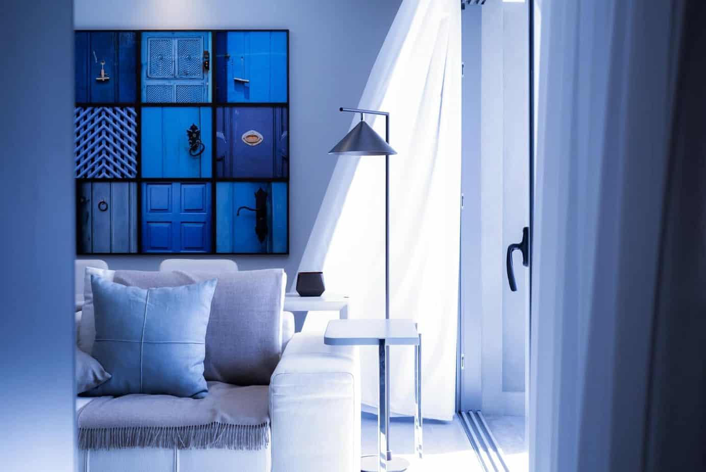 Granatowa sypialnia Projektowanie  wnetrz 1