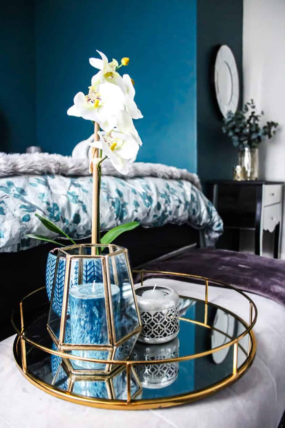 Granatowa sypialnia | Projektowanie wnętrz - Duszyńska Design 7