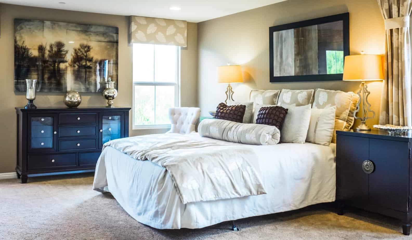 Granatowa sypialnia Projektowanie  wnetrz 6 scaled