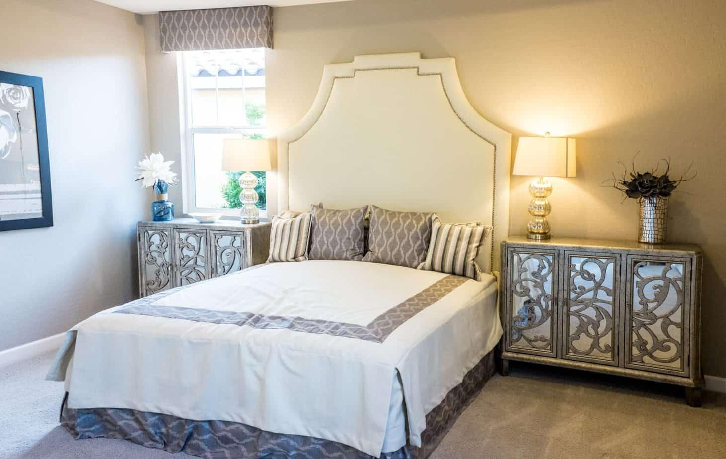 sypialnia w stylu glamour Duszynska Design 7