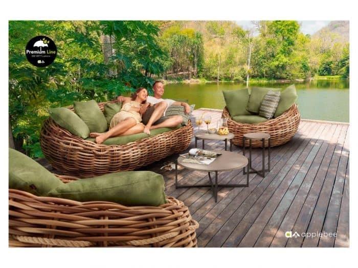 Ogrodowa strefa wypoczynku / komplet foteli