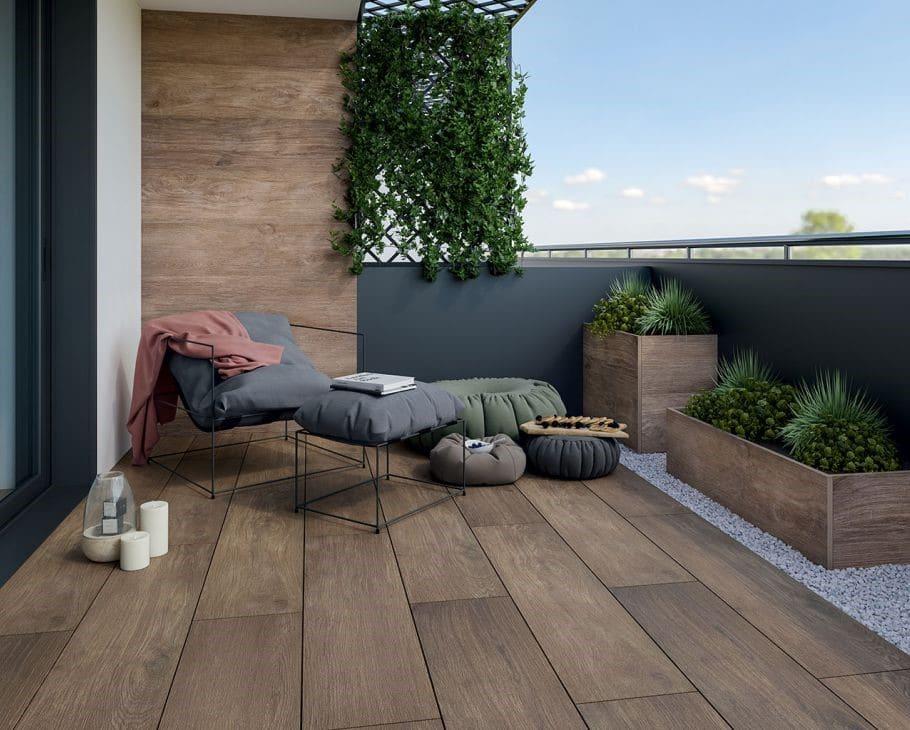 Płytki na taras i balkon / Duszyńska Design - projektowanie wnętrz