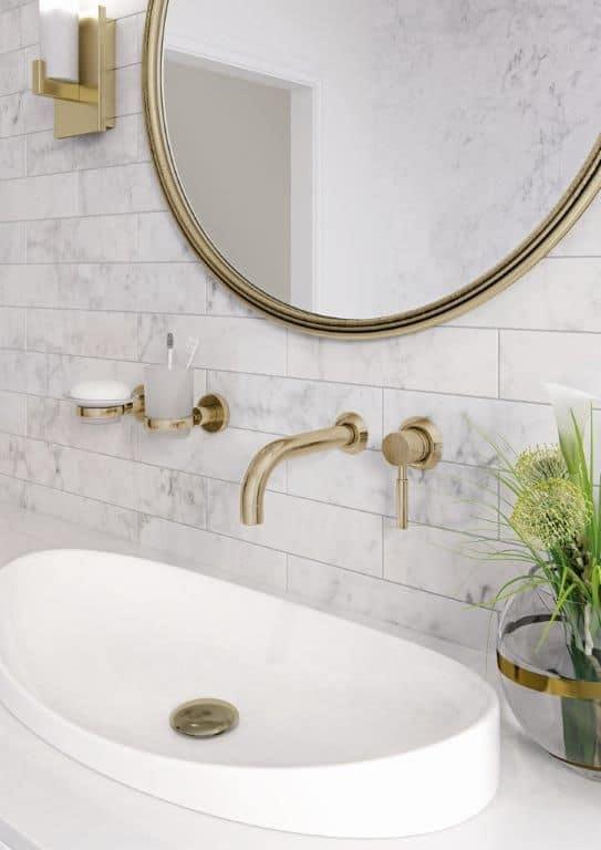 Nowoczesna łazienka / lustro