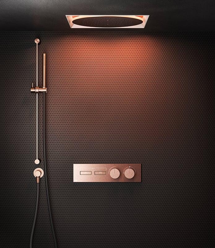 Nowoczesna łazienka / deszczownica w suficie