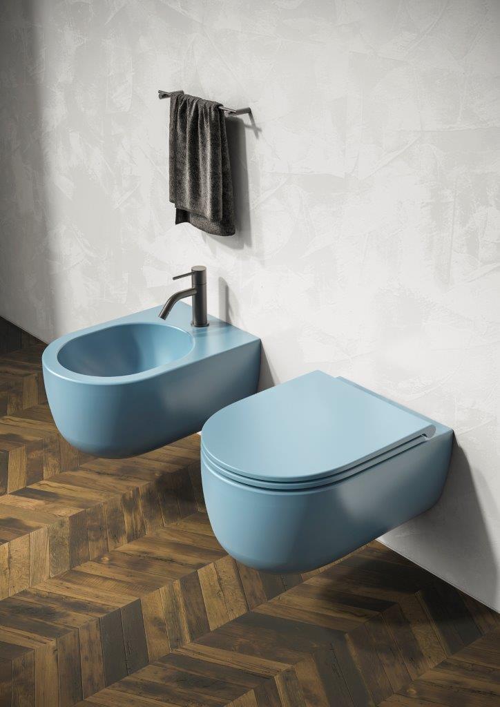 Nowoczesna łazienka / pastelowe kolory