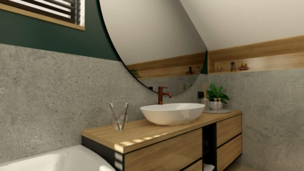 łazienka drewno i beton (11)