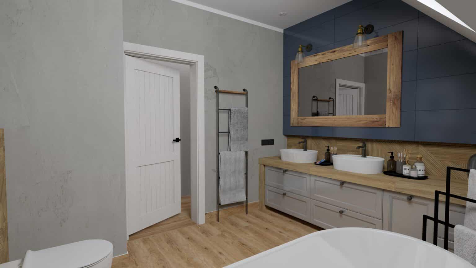 łazienka drewno i beton (14)