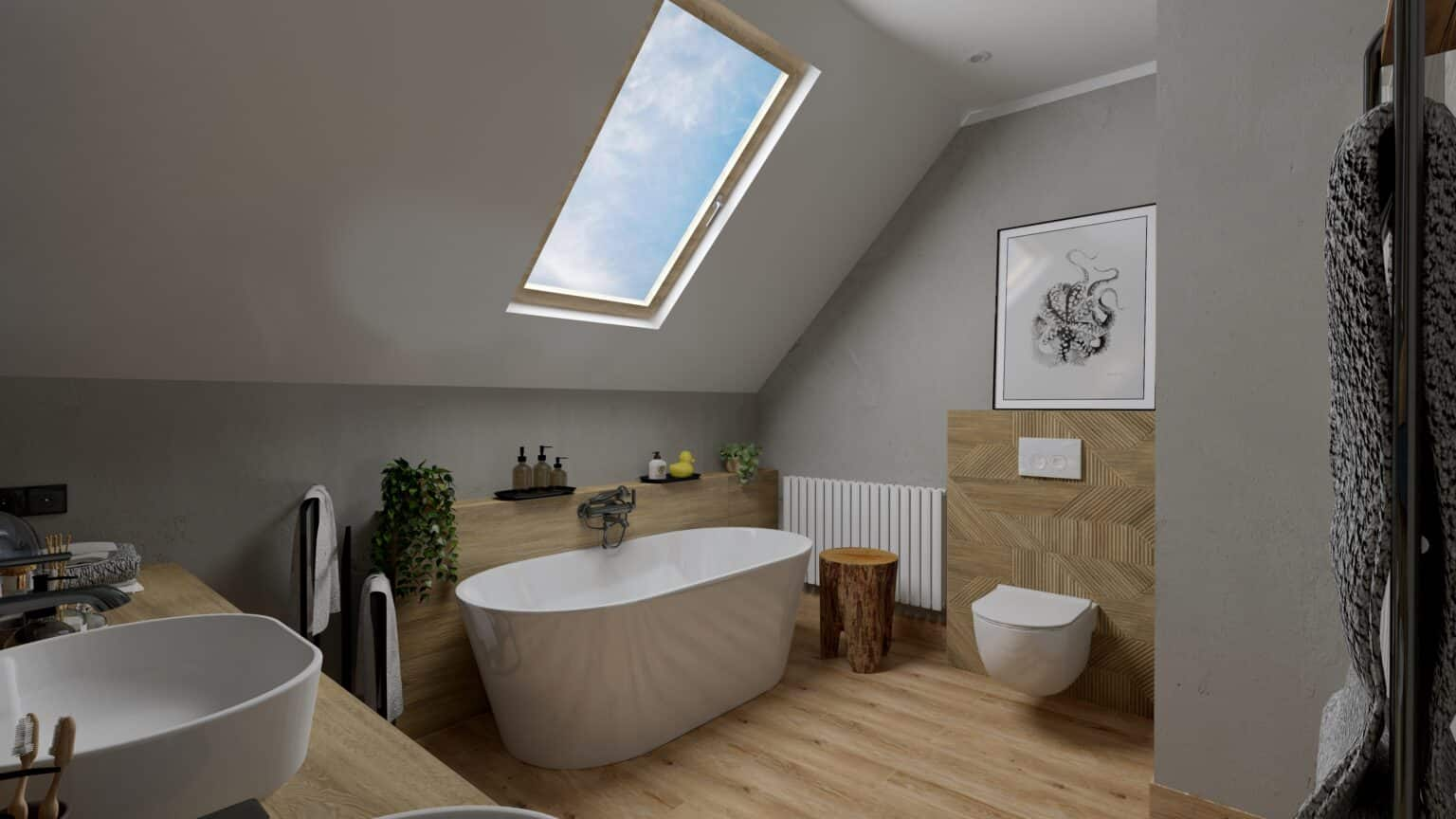łazienka drewno i beton (16)
