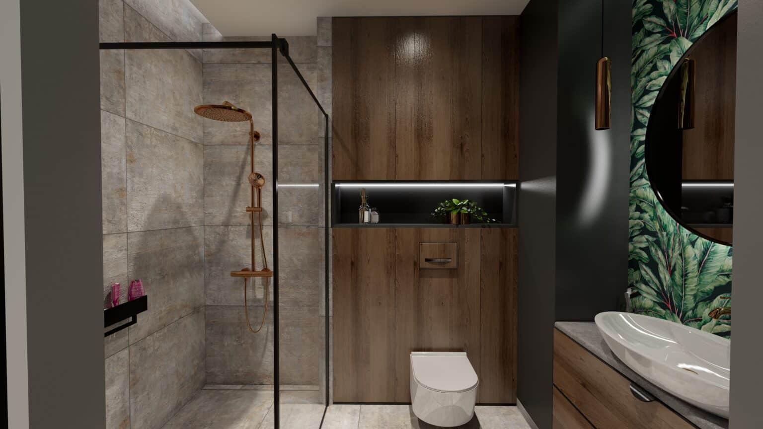 łazienka drewno i beton (7)