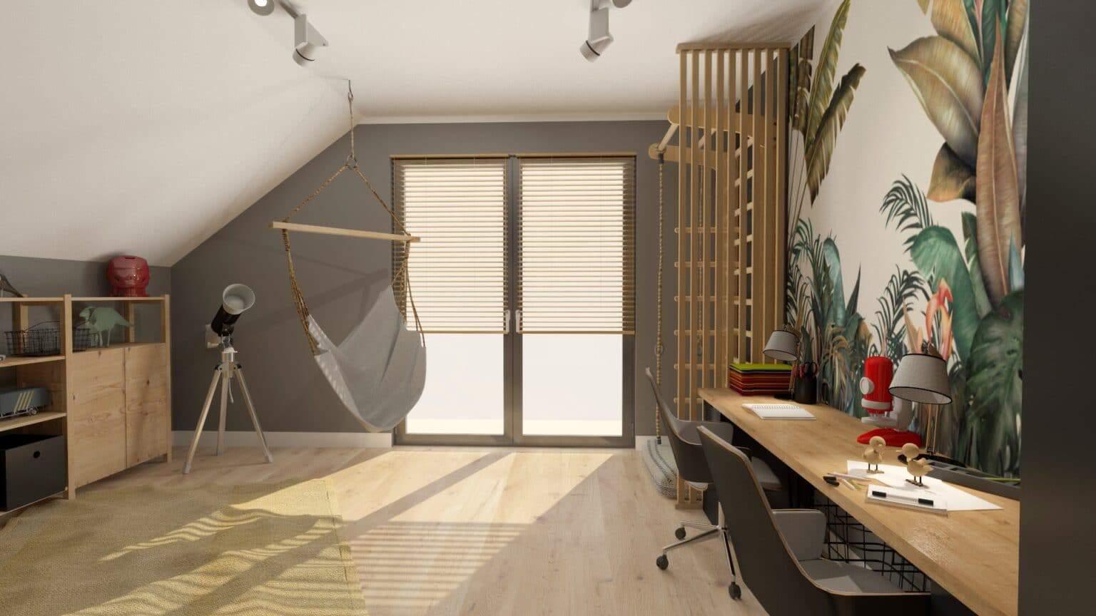 Jak urządzić pokój dla rodzeństwa | Projektowanie wnętrz Duszyńska Design