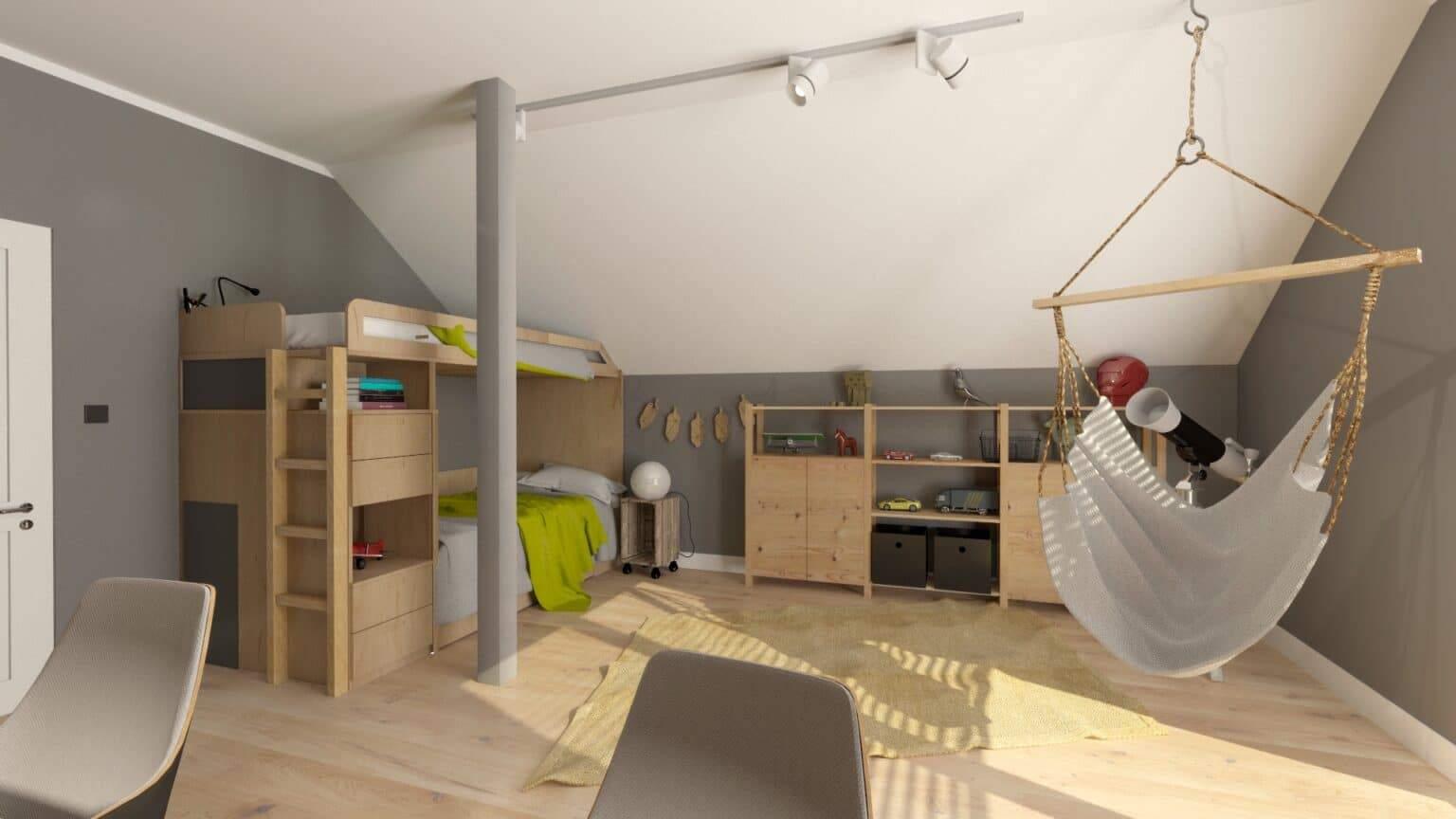 Jak urządzić pokój dla rodzeństwa 5 | Projektowanie wnętrz Duszyńska Design