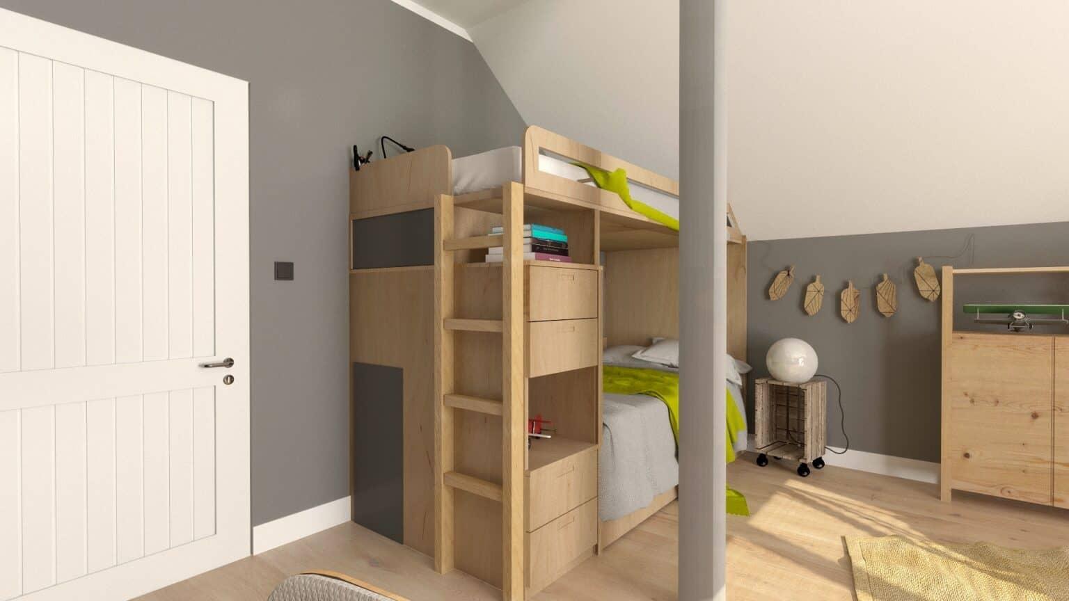 Jak urządzić pokój dla rodzeństwa 3 | Projektowanie wnętrz Duszyńska Design