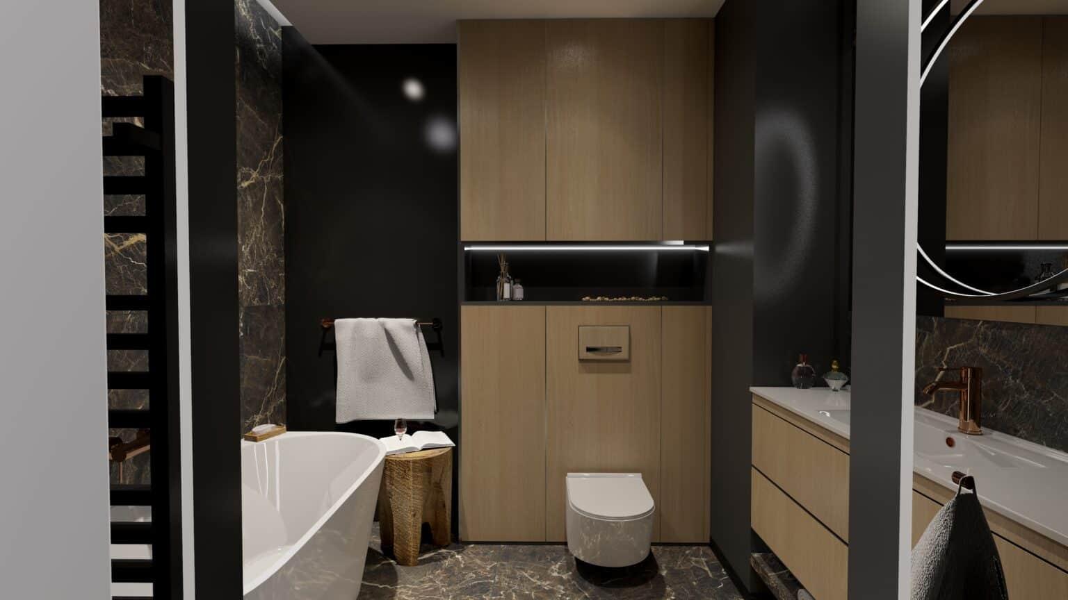 Nowoczesna łazienka 3 / projekt Duszyńska Design