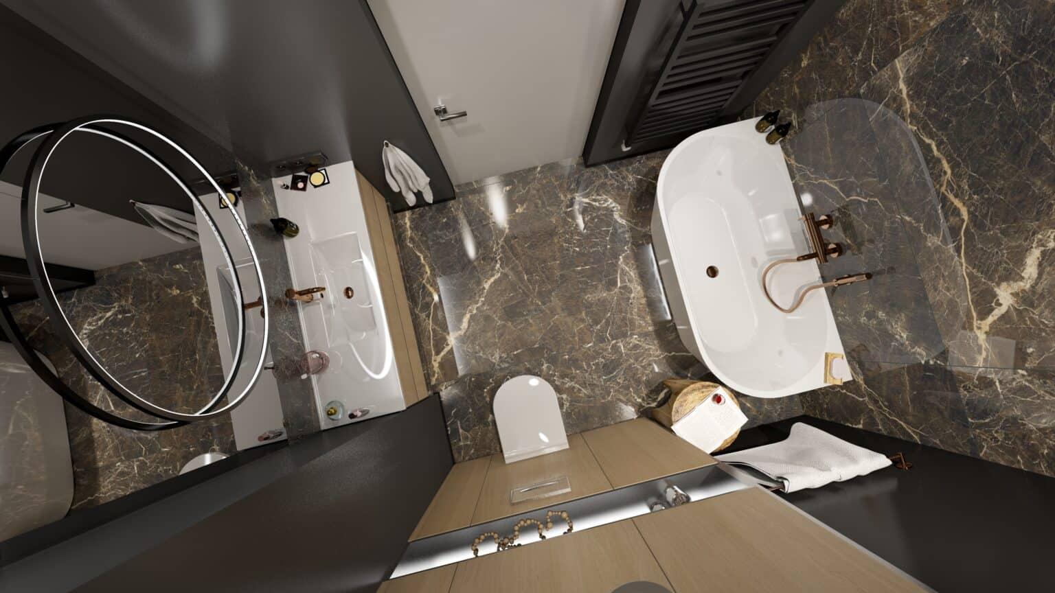 Nowoczesna łazienka 2 / projekt Duszyńska Design