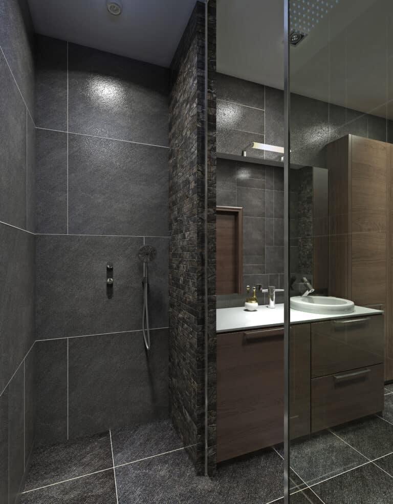 Nowoczesna łazienka / ciemny design