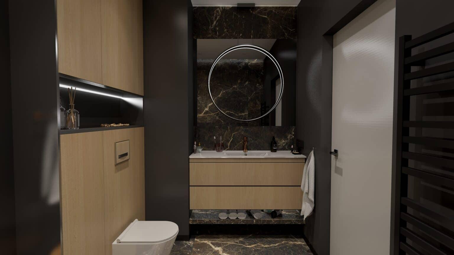 Nowoczesna łazienka 1 / projekt Duszyńska Design