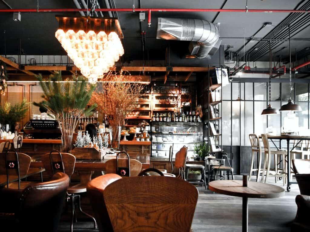 Kawiarnia w stylu loftowym