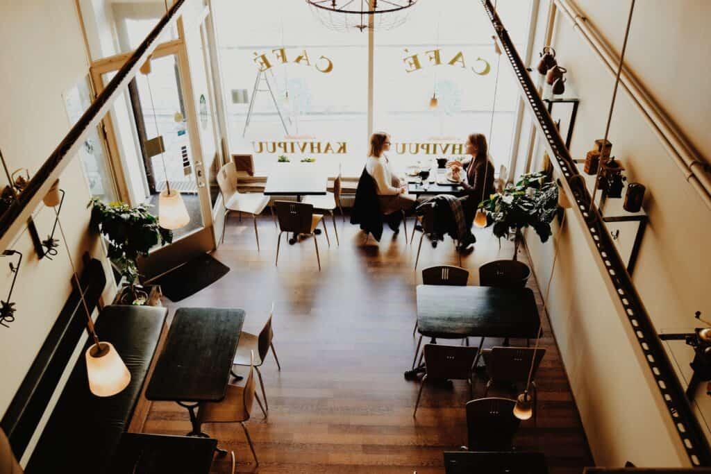 Aranżacja wnętrza kawiarni