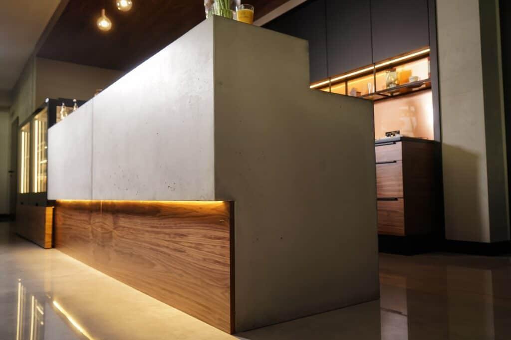 zabudowa lady baru z betonu architektonicznego Artis Visio